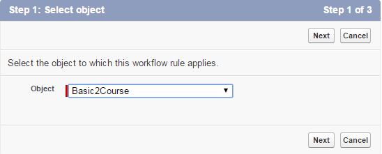 creating workflow rule1