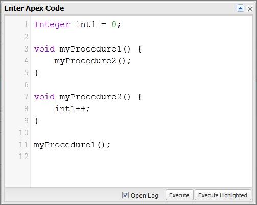 anonymous apex code