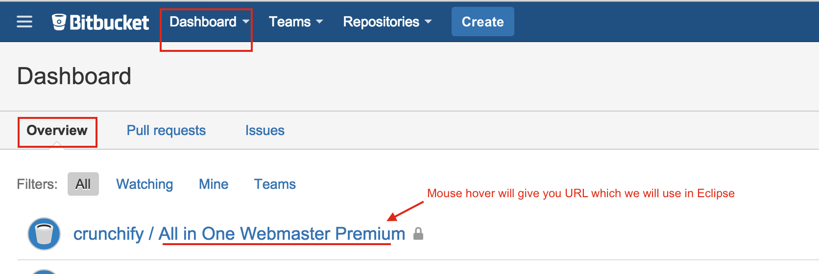 Create Repository Bitbucket